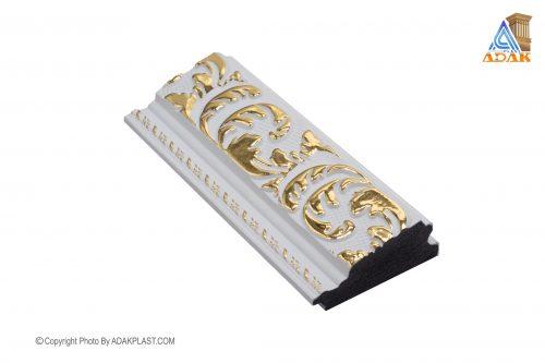 AP701-WT - قاب عکس ۷ سانت سلطنتی - ۷ سانت سلطنتی - قاب عکس ۷ سانت سلطنتی سفید - دو گل ۷ سانت - دو گل ۷ سانت سفید طلایی