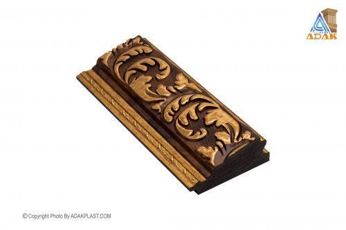 AP701-182 - قاب عکس ۷ سانت سلطنتی - ۷ سانت سلطنتی - قاب عکس ۷ سانت سلطنتی قهوه ای - دو گل ۷ سانت - دو گل ۷ سانت قهوه ای طلایی