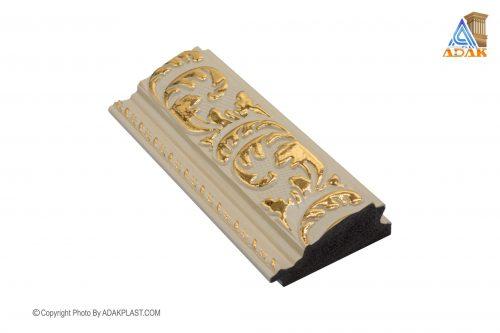 AP701-W409T - قاب عکس ۷ سانت سلطنتی - ۷ سانت سلطنتی - قاب عکس ۷ سانت سلطنتی قهوه ای - دو گل ۷ سانت - دو گل ۷ سانت قهوه ای طلایی - مواد پی وی سی مشکی -